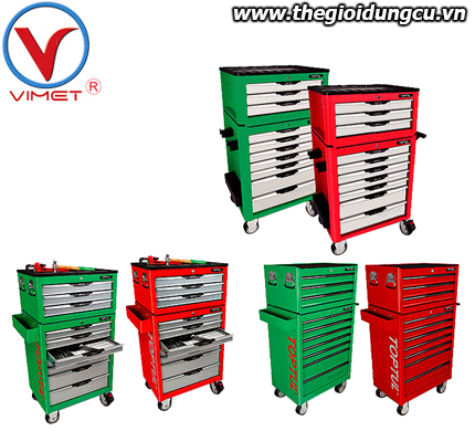 Tủ đồ nghề 7 ngăn 370 chi tiết toptul GX-13601+GT-23401