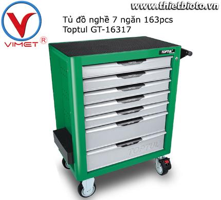 Tủ đồ nghề sửa chữa 7 ngăn 163pcs Toptul GT-16317