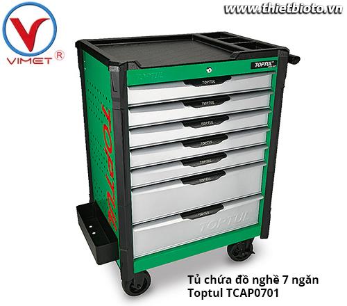 Tủ đồ nghề sửa chữa 7 ngăn Toptul TCAP0701