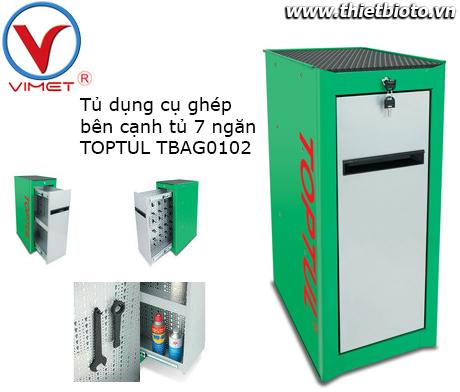 Tủ phụ ghép bên cạnh tủ 7 ngăn màu xanh lá cây TBAH0101
