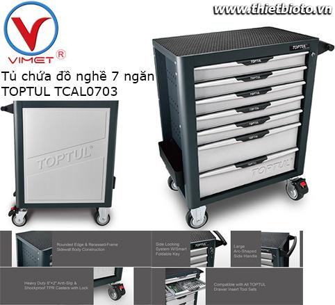 Tủ dụng cụ 7 ngăn cao cấp chống lật Toptul TCAL0703