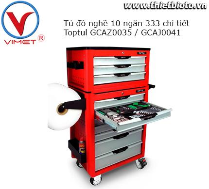 Tủ đồ nghề 2 tầng 10 ngăn 333 chi tiết  GCAZ0035 và GCAJ0041