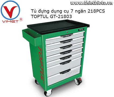 Tủ đựng đồ nghề 7 ngăn 218PCS Toptul GT-21803