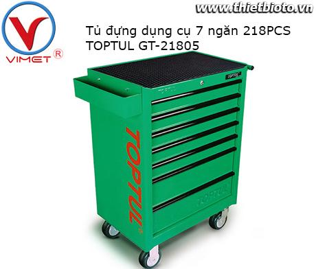Tủ đựng đồ nghề 7 ngăn 218PCS Toptul GT-21805