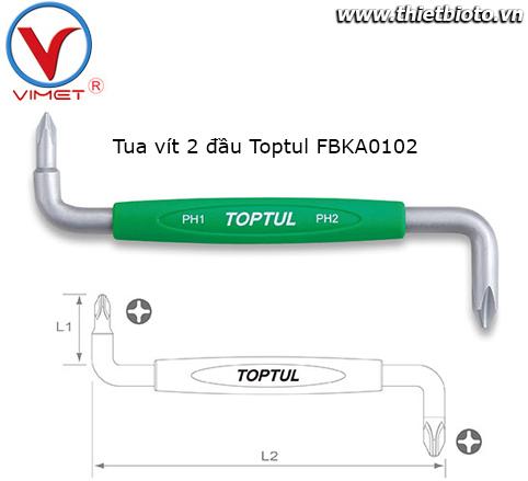 Tua vít 2 đầu Toptul FBKA0102