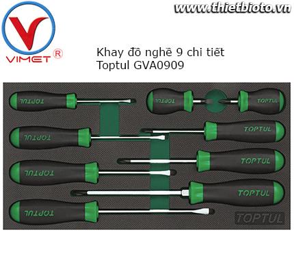 Bộ tua vít 9 chi tiết Toptul GVA0909