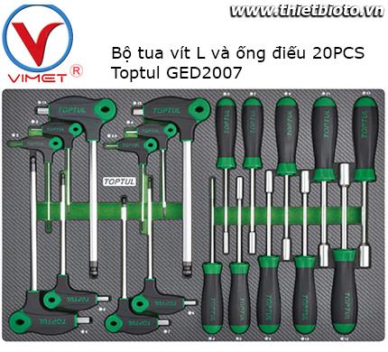 Bộ ống điếu chữ L 20 chi tiết Toptul GED2007