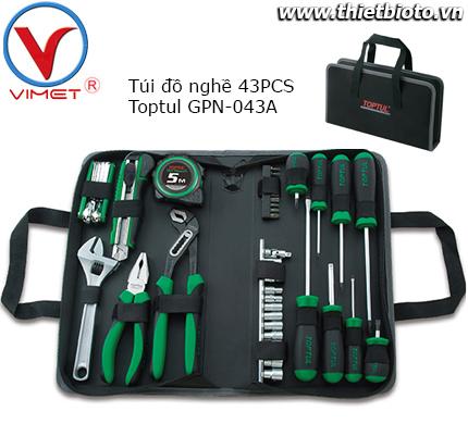 Túi đồ nghề 43 chi tiết Toptul GPN-043A