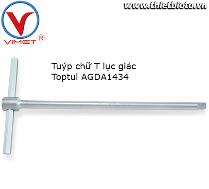 Tuýp chữ T đầu lục giác Toptul AGDA1434
