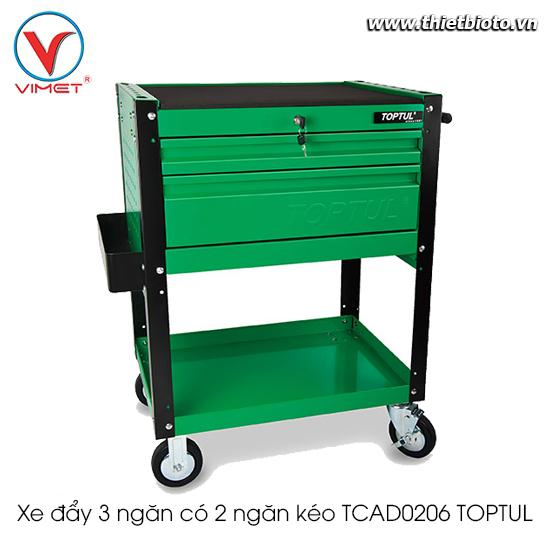 Xe đẩy 3 ngăn có 2 ngăn kéo TCAD0206 TOPTUL